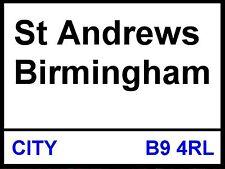 Birmingham City fc St Andrews Street Sign metal Aluminium Football stadium blues
