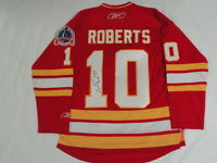 GARY ROBERTS SIGNED RBK CALGARY FLAMES 1989 STANLEY CUP JERSEY LICENSED