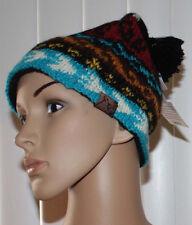 Turtle Fur Nepal BIKO Women's Multi-Colored Hand Knit Beanie Hat OS NWT **