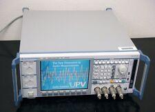 Rohde &Schwarz UPV FFT 250KHz Audio Analyzer THD 0.00018%