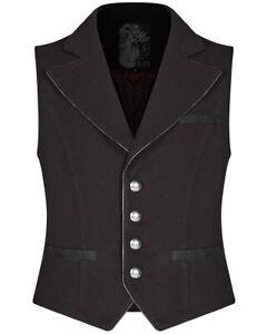 Punk Rave Mens Gothic Steampunk Waistcoat Vest Red Black VTG Victorian Vampire