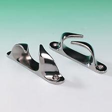 "Stainless Steel Fairleads (Pair) 150mm (6"") Long. 316 Marine Grade Stainless"