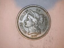 1867 Three Cent Nickel Uncirculated US Type Coin