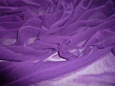 SOFT  MESH-PURPLE-DRESS/CRAFT FABRIC-FREE P&P