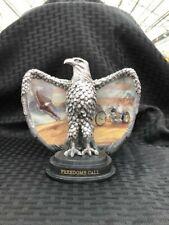"New ListingBradford Exchange Eagle Figurine #A1306 ""Freedom's Call"" Ride Hard Live Free"