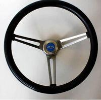 "Chevrolet Truck C10 C20 C30 Blazer Grant Black Steering Wheel  15"" Blue Bowtie"