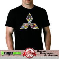 MITSUBISHI stickerbomb TSHIRT jdm evo evolution lancer logo badge galant mirage