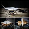 Ridgemonkey Deep Sandwich Toaster Silver & Black Standard + XL - w/ Utensils