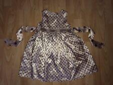 MONSOON  Baby Girls 18-24 m 1-2 y  Cream Grey Spotty Satiny Dress SUMMER