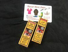 2  Kohl Khol árabe arabe polvo negro ojo kajal natural marroqui Al-Sherifain