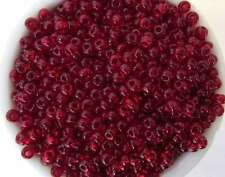 Czech Glass Seed Bead  Ruby Red Transparent Size 6/0