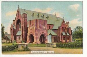 An Early D.A. Ahuja Post Card of Cathedral Church - Rangoon. Burma.