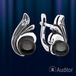Ohrringe aus Silber mit Perlen & Fianiten SO33752