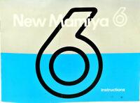 Mamiya 6 Medium Format Camera Instruction Book in VGC, UK Seller