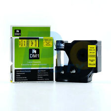2PK Compatible DYMO D1 45808 Black on Yellow Easy Peel Label Tapes 19mm x 7m