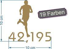 Marathon 1 laufen joggen rennen Sport IronMan Aufkleber Sticker #7887