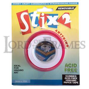24mm x 10m - Gummed Hinging Paper Tape Acid Free Removable Picture Art Framing