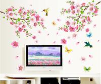 NEU Wandtattoo Vogel Schmetterling Blumen Wandaufkleber Wandsticker Wohnzimmer❤