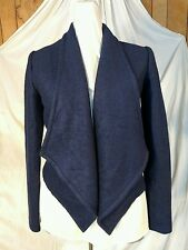 NWT Alice Moon by Moon Collection Navy Wool Blend Open Front Blazer Jacket M