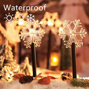 5xLED Christmas Tree Snow Pathway Marker Lights Yard Lawn Pathway Outdoor Decor