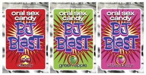 BJ Blast Oral Sex Candy - Green Apple, Strawberry, Cherry Flavors