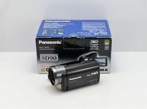 PANASONIC HDC-SD90 CAMCORDER BOXED SDXC CARD HD DIGITAL HIGH DEFINITION VIDEO