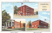 Charles City IA YMCA~Masonic Temple~Manual Arts Building 1920s