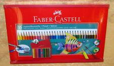 VALIGETTA IN LEGNO CON 35 PASTELLI ACQUERELLABILI FABER CASTELL  cod.15824
