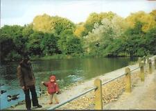 London - Hampstead Top Pond, Heath - postcard c.1980s