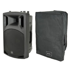 """QTX QX12A 12"""" 400W Active Powered DJ Band PA Speaker or Monitor + Mixer + Cover"""