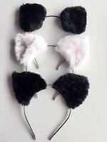 Women Girl kids Fluffy Fancy Cat Kitty fox Costume Ear Party Hair head band Prop