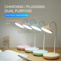 Dimmable Touch Sensor USB Charge LED Desk Table Night Bedside Reading Lamp  A