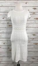 Lilly Pulitzer Paula Crochet Sweater Dress Size XS White Summer Beach