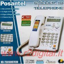 TELEFONO FISSO TSC6007 UFFICIO CASA DISPLAY LCD CALLER ID CALCOLATRICE MUSICA OK