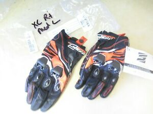 FIVE BRAND MOTORCYCLE STREET GLOVES - RS2 LEATHER - BLK/ORANGE XL RIGHT MEDIUM L