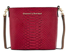 NWT Dooney & Bourke Caldwell Collection Mini Waverly Cross-Body Bag, Wine