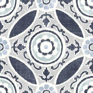 WallPops Bathroom/Kitchen Sienna Peel & Stick Floor Tiles Grey/Blue 10pk FP2484