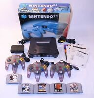 Nintendo 64 N64 Console Lot OEM Bundle Video Games Box System Atomic Purple CIB