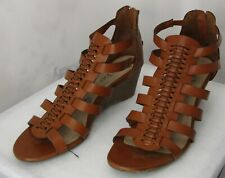 Me Too Brown Leather Strappy Sandal Size 7