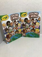(2X) Crayola Colors Of The World Coloring And Activity Book Multicultural