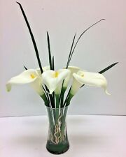 Calla Lily and Cymbidium Orchid Leaves Floral Arrangement - Design by SUSIE