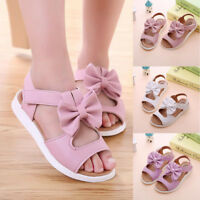 Children Baby Girls Sandals Bowknot Flat Pricness Beach Party Wedding Shoes 2018