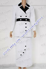 Titanic Costume Rose White Maiden Dress Uniform Suit Outfits * Taillor Made