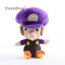 New Super Mario Brosthers Baby Waluigi Plush Toy Stuffed Doll 6'' Figure