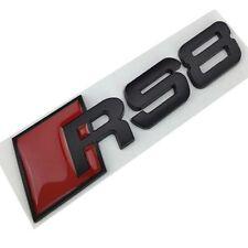 AUDI A8 Logo RS8 Noir Satin Emblème Autocollant Coffre Side Fender Rear Trunk