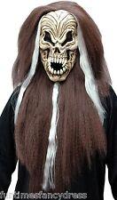 Vampiro De Halloween Esqueleto MÁSCARA CON PELO Gritando mal calavera disfraz