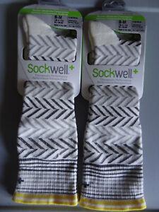 NEW 2 Pairs Sockwell Moderate Graduated Compression Chevron Socks Women's S/M
