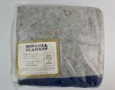 """New vintage Bonanza Chore Blanket Blue / Gray Fits Twin or Full Bed 72"""" x 90"""""""