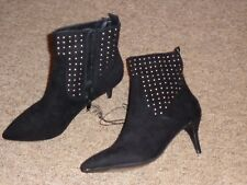 NEW Primark Xmas Party New Year Gold Studs Heel Ankle Boots Size UK 5 EU 38