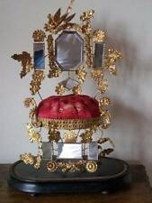 Superb French 19th Century Gilded/Velvet Marriage Keepsake Stand c1889